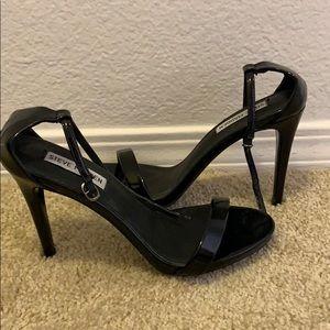 Steve Madden Stecy Black Patent Leather Heels